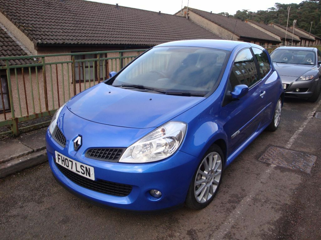 renault clio sport 197 2 0 vvt 2007 fsh long mot in stunning blue price reduced bargain to go. Black Bedroom Furniture Sets. Home Design Ideas
