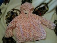 18-24 Gap cotton lined rain jacket waterproof
