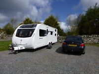 swift sterling eccles 636 cruach dealer special family caravan twin axel 6 bearth fixed bunks