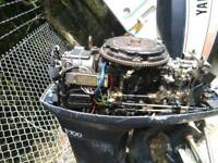 Yamaha 55hp 2 stroke outboard engine fishing boat