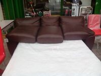 Brand new alberta leather sofa bed l208. W94. H89 original leather free delivary in manchester