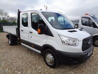 FORD TRANSIT 2.2 TDCi 350 L3H1 Double Cab Chassis Cab RWD 4dr (white) 2015