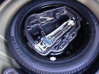 Brand new unused vw golf/bora 16 inch spare wheel and Bridgestone turanza 205/55/16 tyre and jack