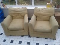 Two armchairs free for collection