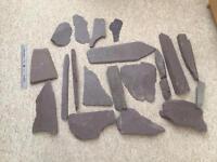 Aquarium purple slate / rocks