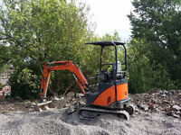 Hitachi ZX17U-2 mini digger excavator kubota JCB with Trailer
