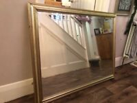 Large Mirror Lovely condition please see picture. Looks great on any wall or fireplace .