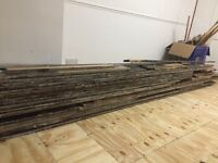 Old floorboards for collection