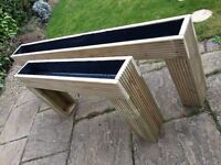 Raised Patio Planter (6') Bedding Plants / Herbs. No More Bending. Brand new, Lined & Treated Wood.
