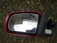 Mercedes w210 e class face lift avantgarde red electric folding mirror l/h with blinker