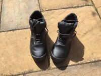 Steel capped work boots. As new