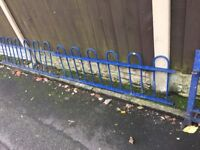 Quality Bow Tow Railings / Wall Toppers / Steel Fencing 20ft In Total - Ring Malc