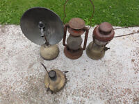 Vintange Old Primus Stove/cooker and 3 Lamps Collectable