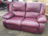 3 + 2 Leather Recliner Sofas for Sale - £150