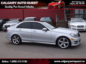 2014 Mercedes-Benz C-Class C350 4MATIC AWD/NAVI/B.CAM/LEATHER/RO