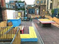 Garden / terrace palette bamboo benches table drinks bar ping pong £350 o.n.o.