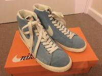 Pale Blue & White Suede Nike Blazers UK6 Mint Condition