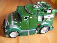 Battle Shell Armored Toy Tank Truck Teenage Mutant Ninja Turtles TMNT 2002 Used