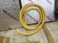 Yellow Perforated Land Drainage Flexible Pipe for French Drains 60mm x 8m