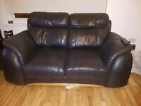 Black leather 2 and 3 seater suites pick up only