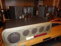 Vintage 1960's Quad 22 Control Unit Pre Amp & 2x Quad II Valve Amplifiers with Tape Adapter Unit