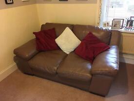 Leather sofa/settee