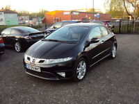HONDA CIVIC 1.8 i -VTEC EX 5DR 2010 6 SPEED LOW MILEAGE PAN ROOF LEATHER SEATS MOT S. HISTORY EXTRAS