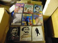 comedy cassettes...talking comedy..peter kay,victoria wood,groucho marx etc