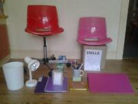 OFFICE/STUDY/STUDENT? .. SWIVEL-CHAIR+, DESK-LAMP, LAPTOP-STAND AND MORE