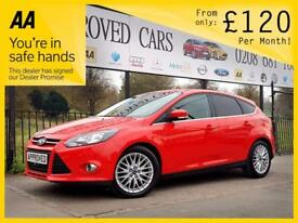 FORD FOCUS 1.6 ZETEC TDCI 5d 113 BHP S Apply for finance Onli (red) 2014