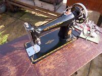 Fantastic 1940's Singer 201K Treadle Sewing Machine