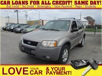 2001 Ford Escape XLT * AS IS * 4X4 * LEATHER * PWR SEATS