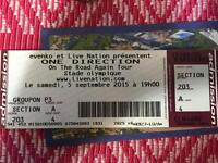 one direction ticket