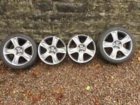 GENUINE BMW MINI BULLET ALLOYS WITH TWO TYRES 17 INCH IN GREY
