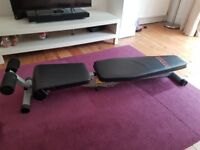York fold flat Fitness work out bench. Hardly used. £15.00