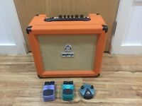 orange crush 35RT amplifier with three FX pedals combo