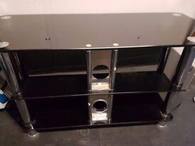 Black Hi Gloss TV Stand