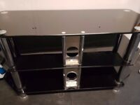 Black Hi Gloss TV Stand