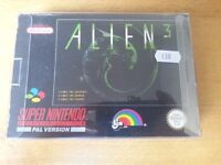 SNES Super Nintendo Alien 3 Complete with manual & protective sleeve