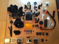 GoPro Hero3+ Silver Edition HD Camera + many many extras