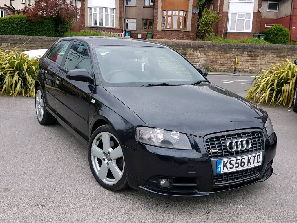 2007 audi a3 2 0 tdi s line 170bhp auto dsg 3 door black hpi clear long mot good runner in. Black Bedroom Furniture Sets. Home Design Ideas