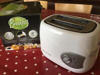 Russell Hobbs White 2-Slice Toaster