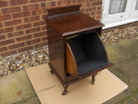 Vintage / Antique Quality mahogany Victorian coal box / cupboard table cabinet FREE DELIVERY
