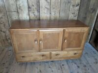 Ercol sideboard blue label great colour deep, original natural finish UK delivery gplanera