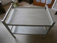 G plan tea trolley repainted with vintage chalk paint.Original castors.