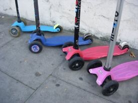 Mini-Micro/ Maxi Scooters, Pre-Loved, Assorted Colors/ Condition, Made in Switzerland, CHEAP PRICE!