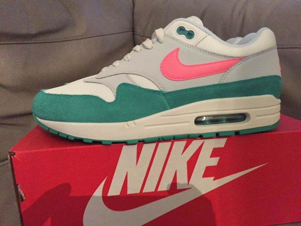 Genuine Mens size 9uk Nike air max 1 trainers Watermelon Miami south beach  AH8145-106 ddbc8259d