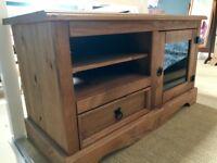 Corona Solid pine entertainment unit