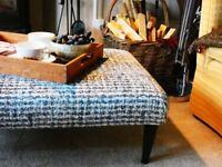 Modern large foot stool velvet