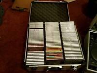 2x aluminium cases with over 200 cds